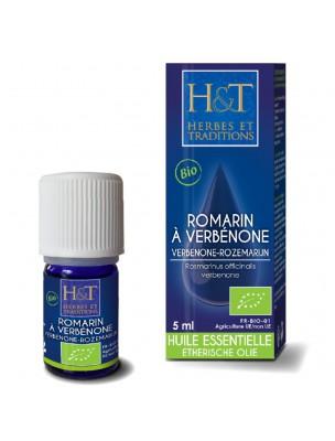 Romarin à verbénone Bio - Huile essentielle Rosmarinus officinalis verbenone 5 ml - Herbes et Traditions