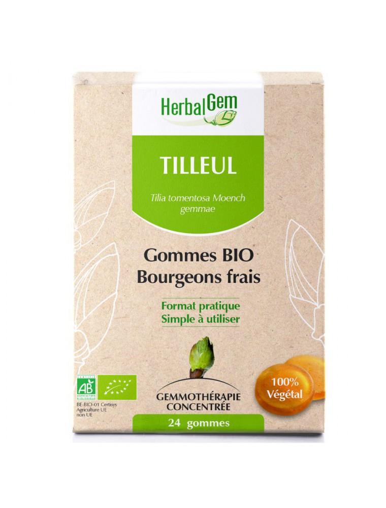 Tilleul bourgeons gommes Bio - Système nerveux 24 gommes - Herbalgem