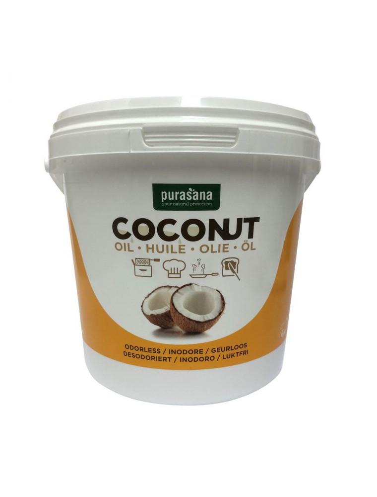 Huile de noix de coco vierge et Bio - Soin de la peau et des cheveux 2000 ml - Purasana