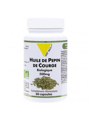 Huile de pépins de courge Bio - Confort urinaire Masculin 60 capsules - Vit'all+