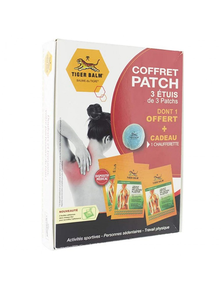 Coffret Patchs - 3 étuis de 3 patchs dont 1 offert et une chaufferette offerte - Tiger Balm