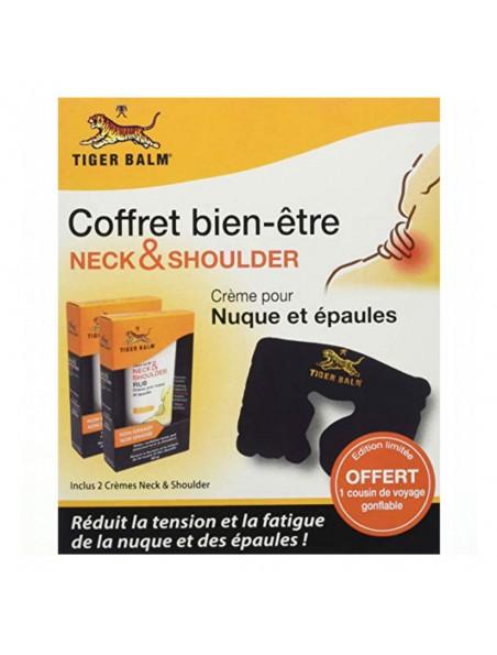 Coffret Neck and Shoulder - 2 crèmes nuque et épaules et un coussin gonflable - Tiger Balm