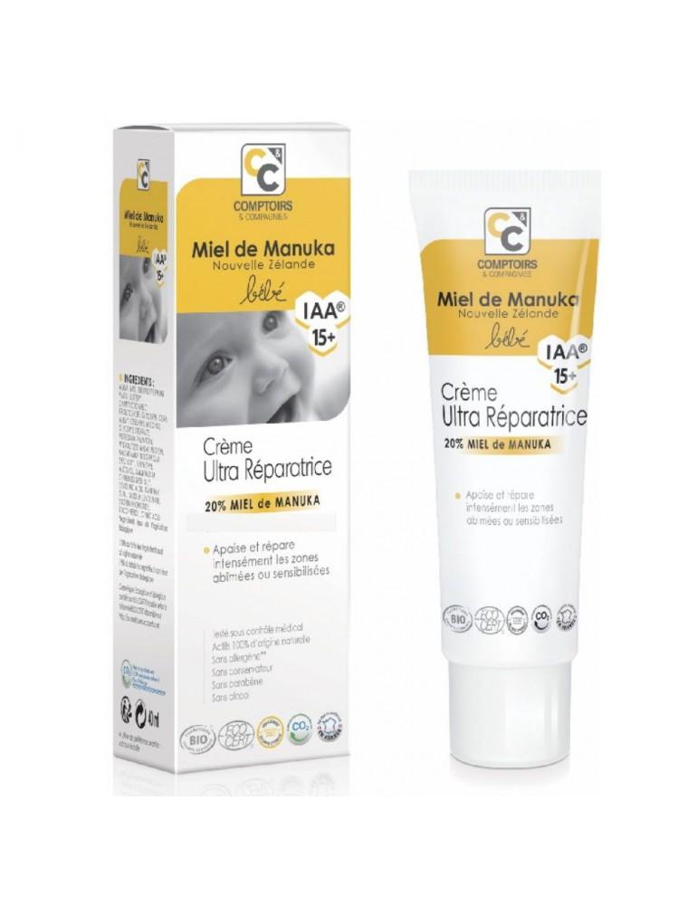Crème ultra réparatrice Bébé Bio - Miel de Manuka IAA 15+ 40 ml - Comptoirs et Compagnies