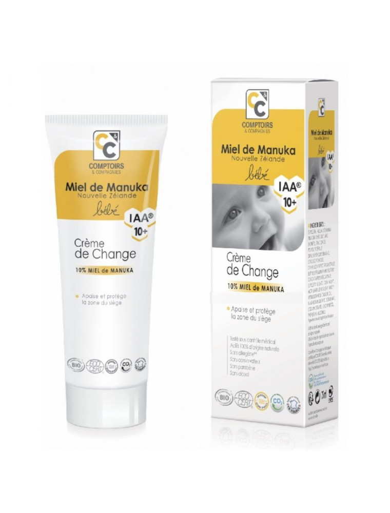 Crème de change Bébé Bio - Miel de Manuka IAA 10+ 75 ml - Comptoirs et Compagnies