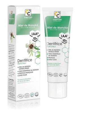 Dentifrice blancheur Bio - Miel de Manuka IAA 15+ 75 ml - Comptoirs & Compagnies