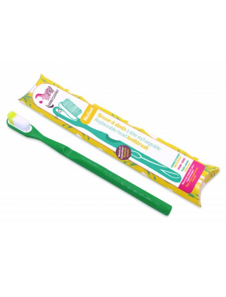 Brosse à dent rechargeable - Médium verte - Lamazuna
