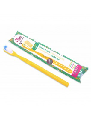 Brosse à dent rechargeable - Souple jaune - Lamazuna