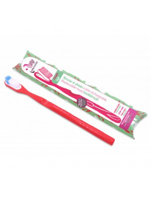 Brosse à dent rechargeable - Médium rouge - Lamazuna