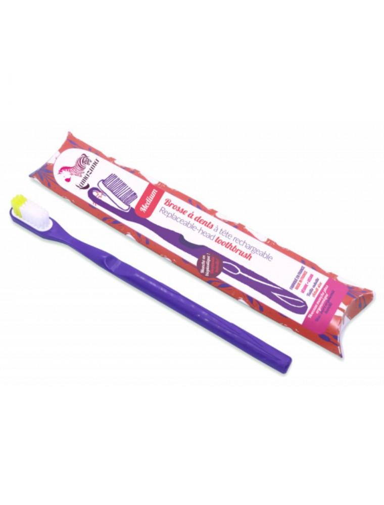 Brosse à dent rechargeable - Souple violette - Lamazuna