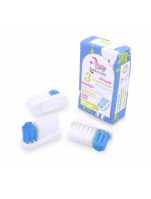 Recharge de 3 têtes pour Brosse à dent rechargeable - Médium - Lamazuna