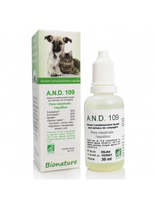 Flore intestinale des animaux Bio - A.N.D 109 30 ml - Bionature