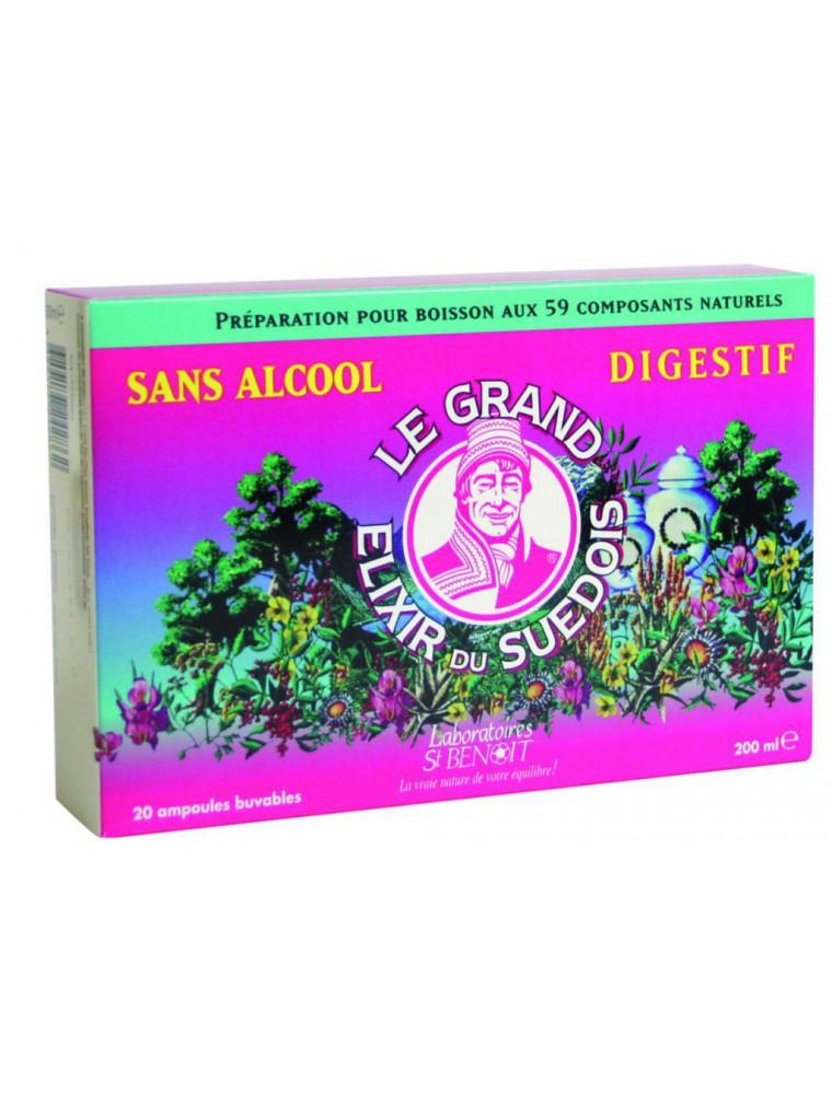 Elixir du Suédois Sans Alcool - Digestif 20 ampoules - Saint-Benoît