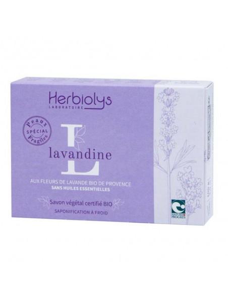 Savon Maman Bébé Lavandine Bio - Lavande 100G - Herbiolys