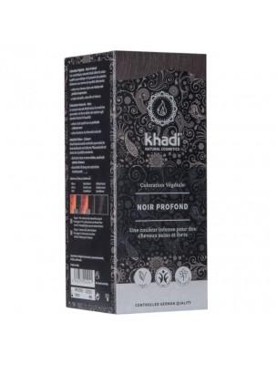 Coloration Noire - Henné et plantes ayurvédiques en poudre 100g - Khadi