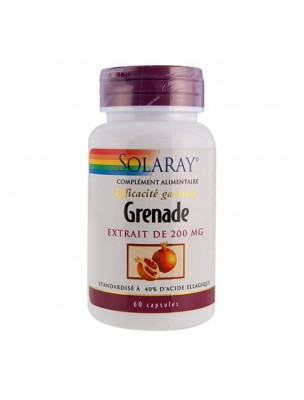 Grenade 200 mg - Antioxydant et Système cardiovasculaire 60 capsules - Solaray