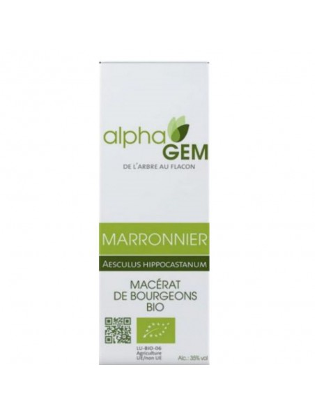 Marronnier Macérat de bourgeons Bio - Aesculus hippocastanum 50 ml - Alphagem