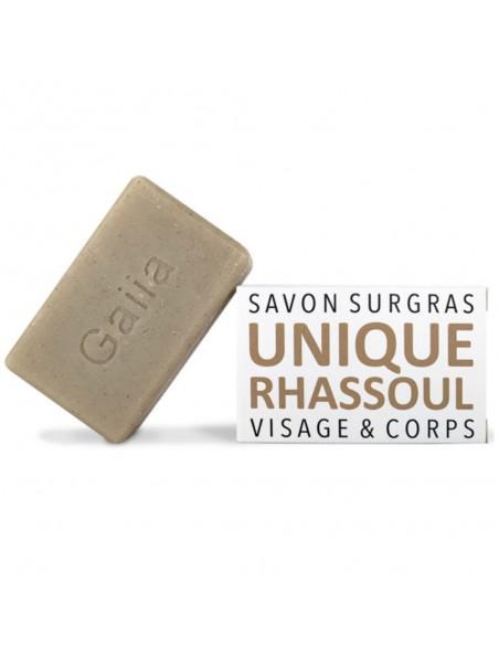 L'unique, à l'argile Rhassoul - Savon surgras 100 g - Gaiia