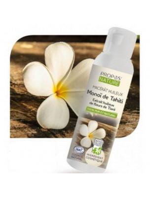 Monoï de Tahiti A.O.Brut - Macérât huileux de Gardenia tahitensis 100 ml - Propos Nature