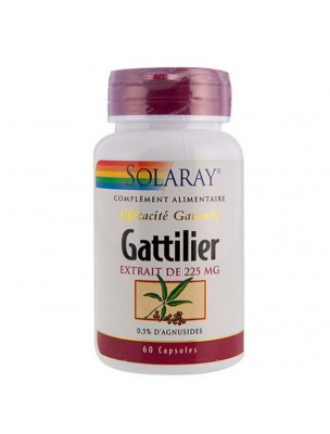 Gattilier 225 mg - Troubles féminins 60 gélules - Solaray