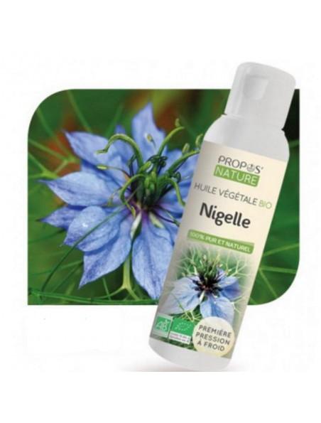 Nigelle Bio - Huile végétale de Nigella sativa 100 ml - Propos Nature