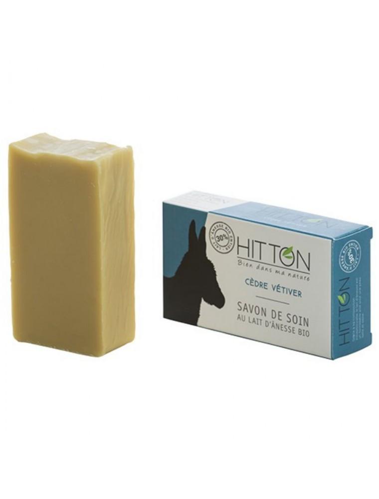 Savon au Lait d'ânesse Bio - Cèdre Vétiver 100 grammes - Hitton