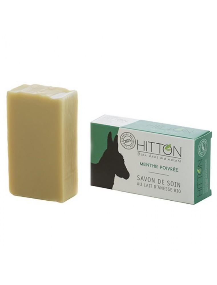 Savon au Lait d'ânesse Bio - Menthe poivrée 100 grammes - Hitton