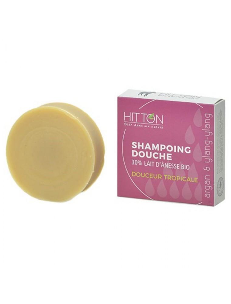 Shampooing Douche au Lait d'ânesse Bio - Douceur Tropicale 100 grammes - Hitton