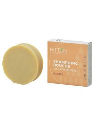 Shampooing Douche au Lait d'ânesse Bio - Nature 100 grammes - Hitton