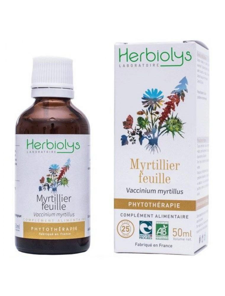 Myrtille (Feuille) Bio - Sucre et Circulation Teinture-mère Vaccinum myrtillus 50 ml - Herbiolys