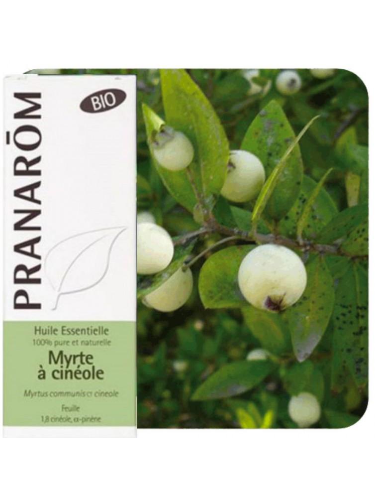 Myrte verte à cinéole Bio - Huile essentielle de Myrtus communis ct cinéole 5 ml - Pranarôm