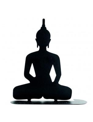 Bouddha noir - Porte-spirales pour encens - Les Encens du Monde