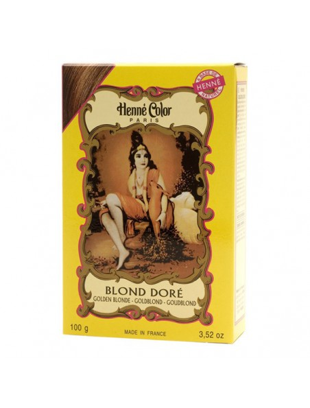 Coloration Blond doré - Henné en poudre 100g - Henné color