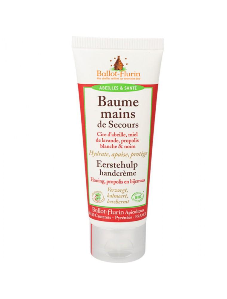 Baume Mains de Secours Bio - Cire d'abeille, Miel de Lavande et Propolis 75 ml - Ballot-Flurin