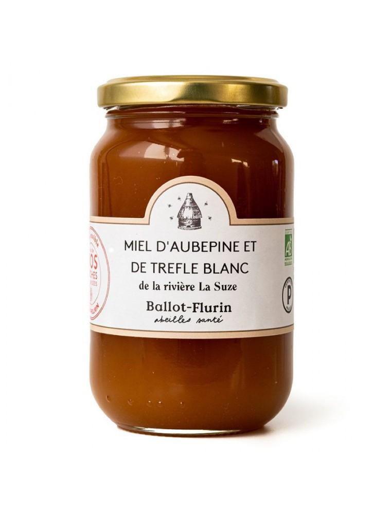 Miel d'Aubépine et de Trèfle blanc Bio 480 g - Fruité et Boisé - Ballot-Flurin