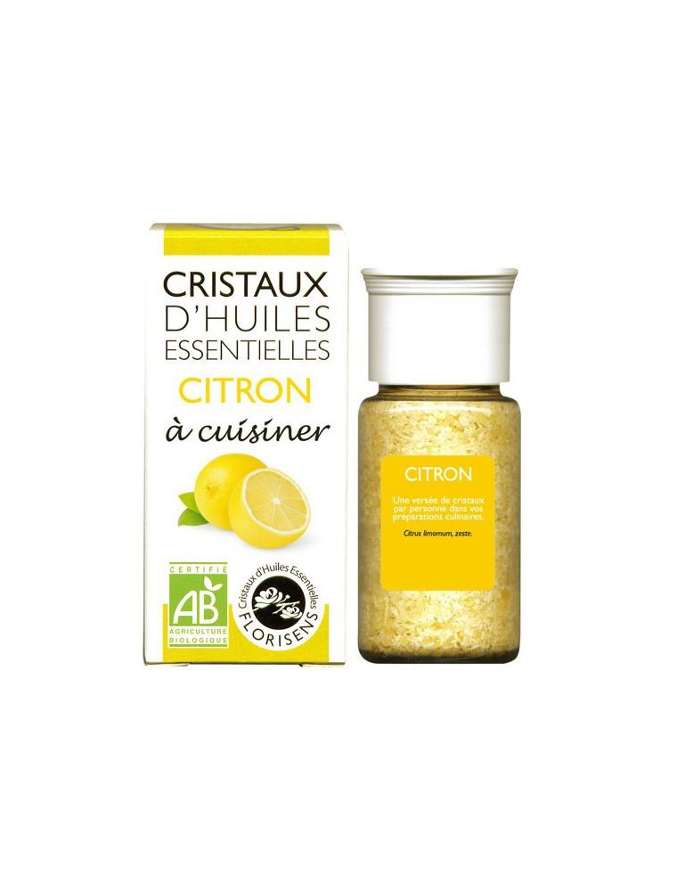 Citron - Cristaux d'huiles essentielles - 18 grammes