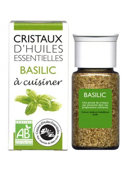 Basilic - Cristaux d'huiles essentielles - 10g