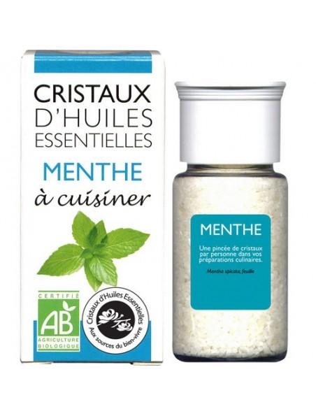 Menthe - Cristaux d'huiles essentielles 10g