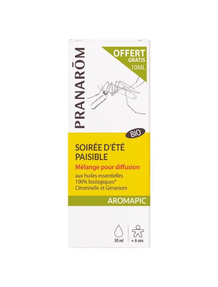 Soirée d'été paisible Aromapic Bio - Mélange pour diffusion 20 ml et 10 ml offerts - Pranarôm