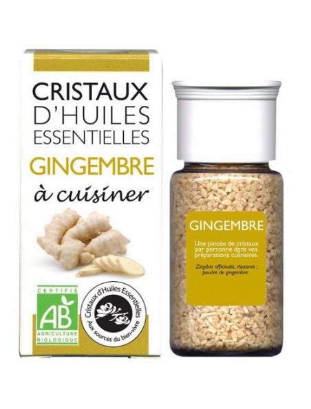Gingembre - Cristaux d'huiles essentielles - 10g