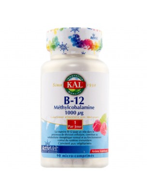 Vitamine B12 - Méthylcobalamine 1000 µg 90 micro-comprimés - KAL