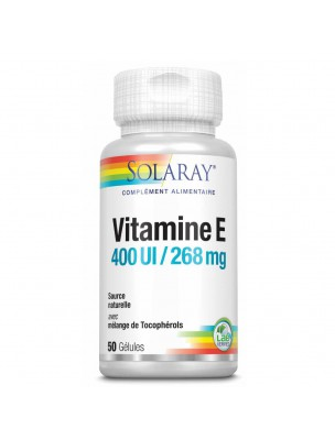Vitamine E 400 UI - Anti-oxydant 50 gélules - Solaray