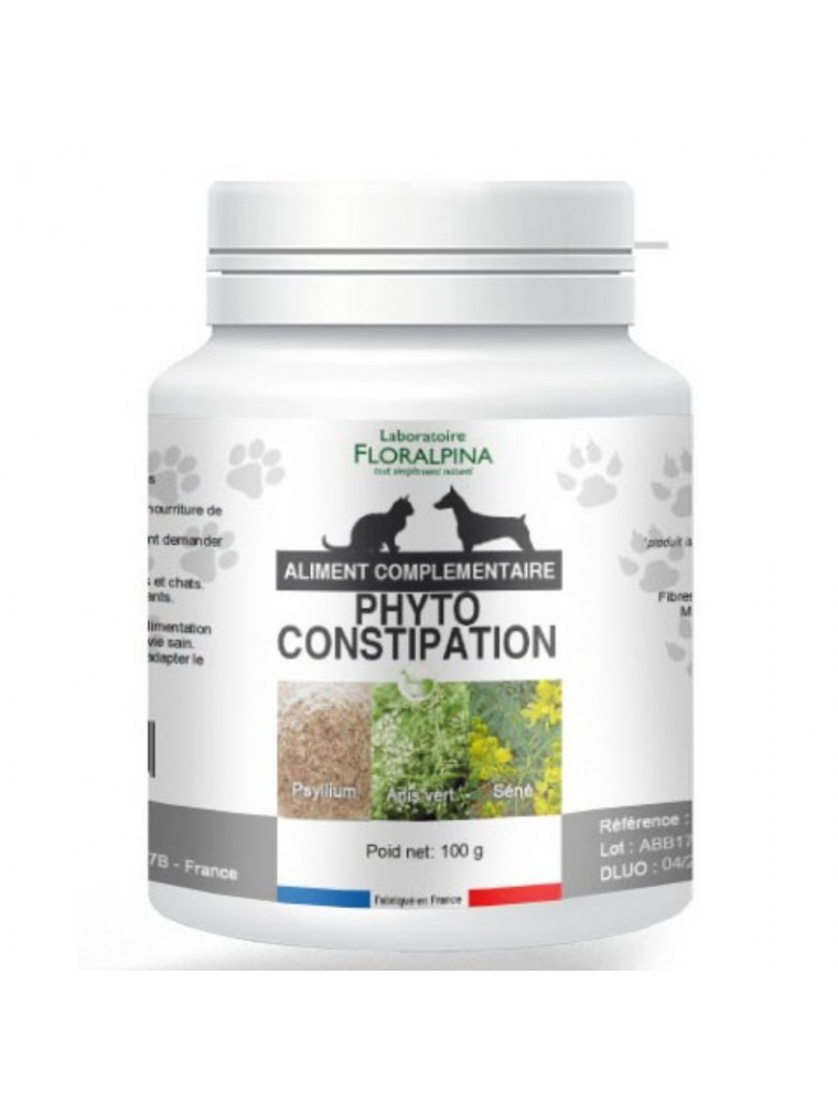 Phyto Constipation - Laxatif Chiens et Chats 100g - Floralpina