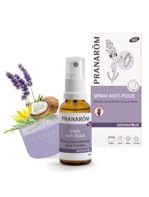 Aromapoux Bio - Spray anti-poux Lotion capillaire + peigne 30 ml - Pranarôm
