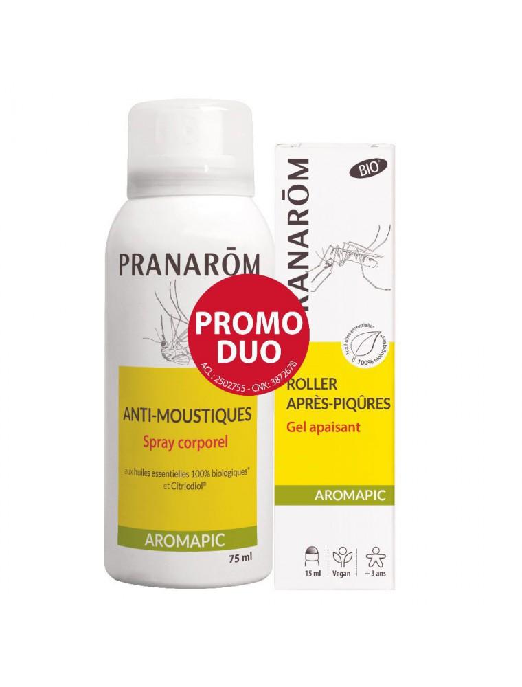 Aromapic Spray corporel Bio et Roller après-piqûres Bio Bio - Anti-moustiques - Pranarôm