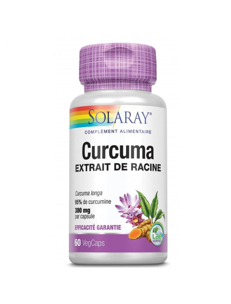 Curcuma 300 mg - Articulations 60 capsules végétales - Solaray