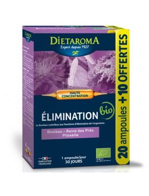 C.I.P. Elimination Bio - Elimination 20 ampoules et 10 offertes - Dietaroma