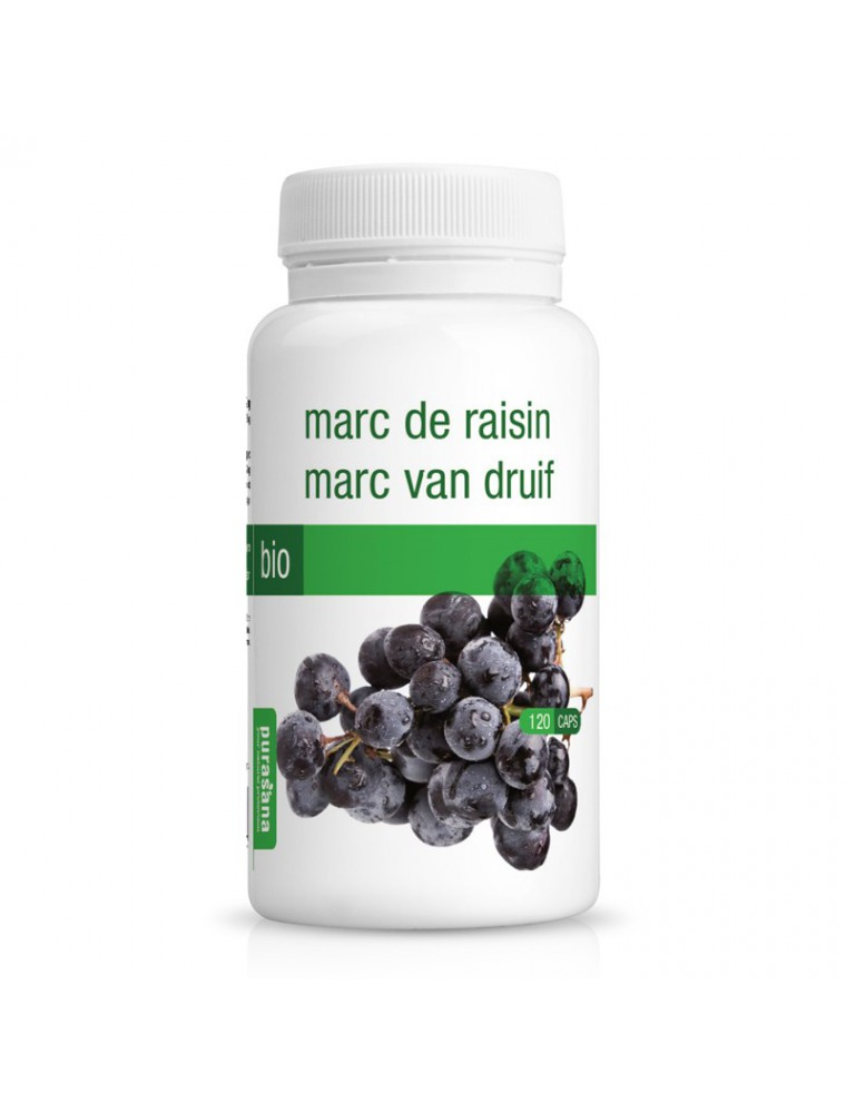 Marc de Raisin Bio - Cellulite 120 gélules - Purasana