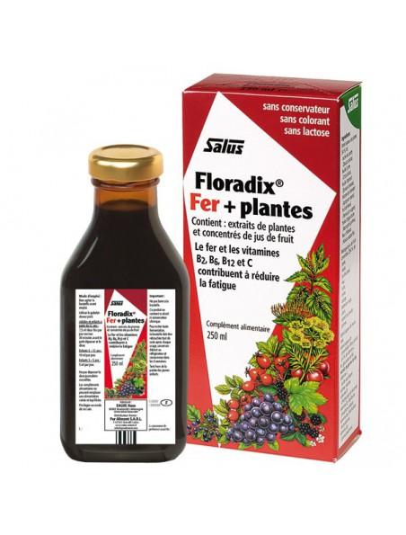 Floradix Fer + plantes - Tonique 250 ml - Salus