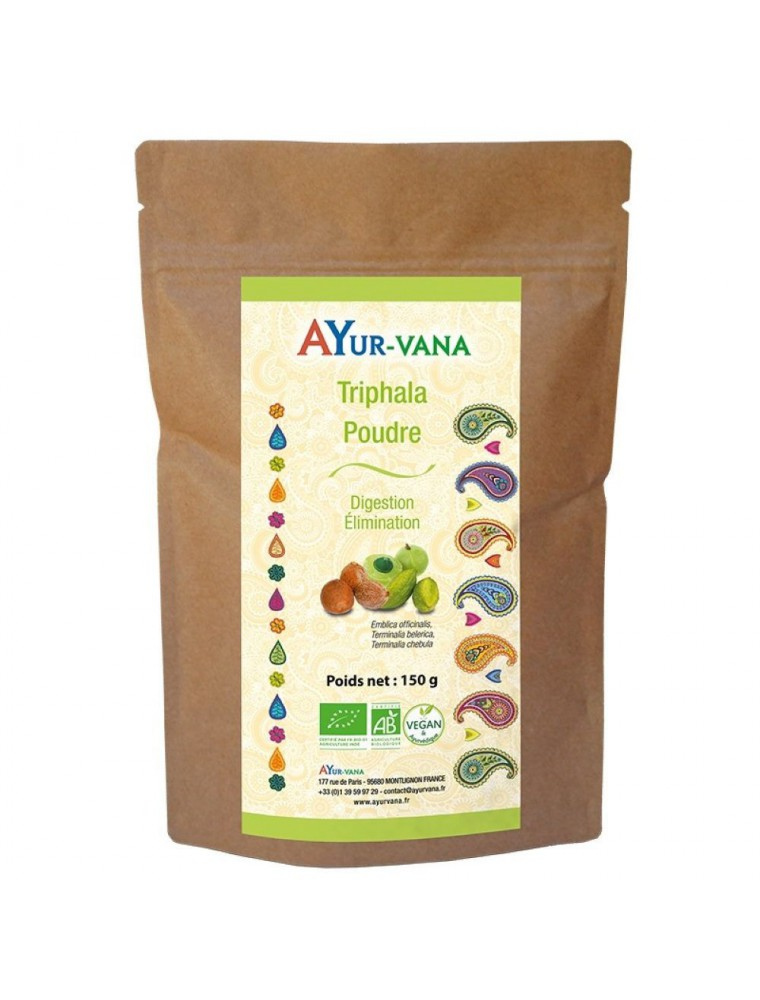 Triphala poudre Bio - Digestion et Elimination 150 grammes - Ayur-Vana