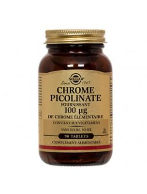 Chrome picolinate 100 µg - Envie de sucre et glycémie 90 comprimés - Solgar